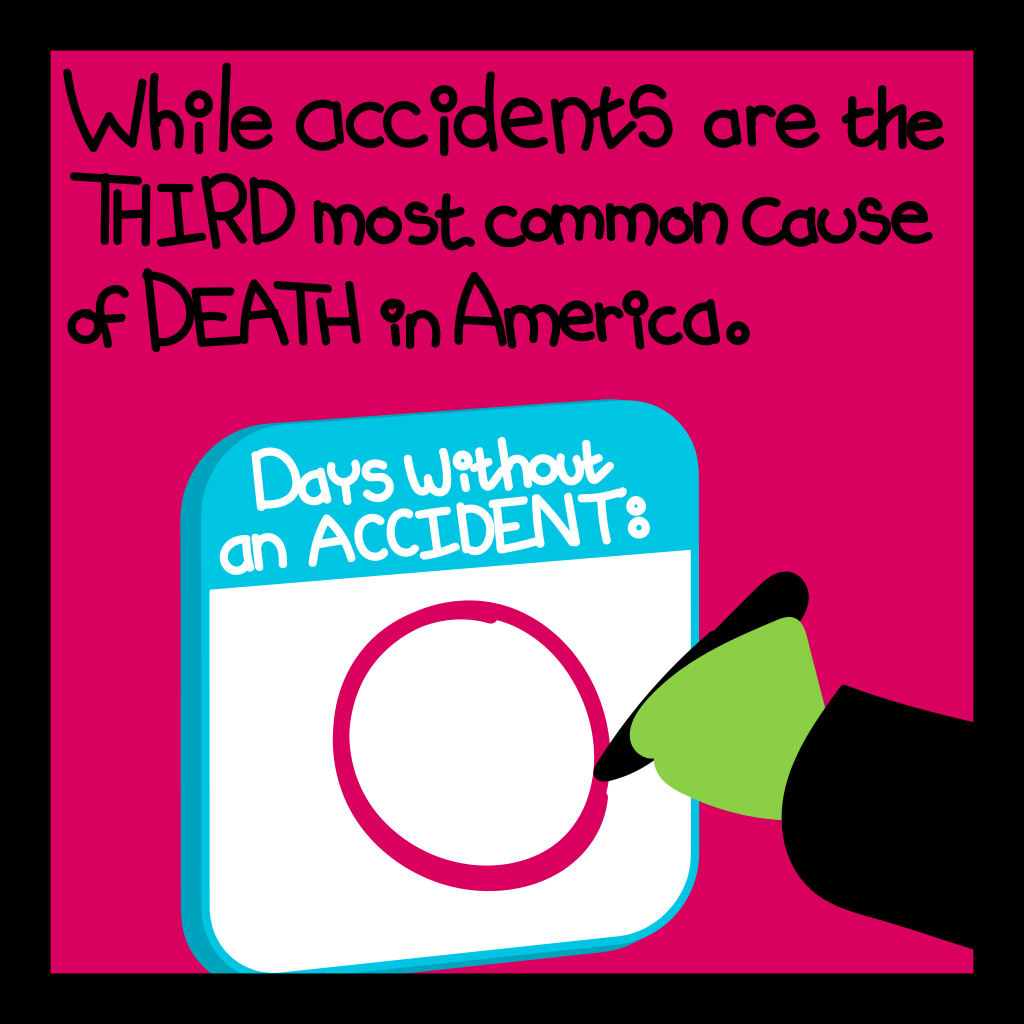 While workplace accidents are the third most common cause of death in America.